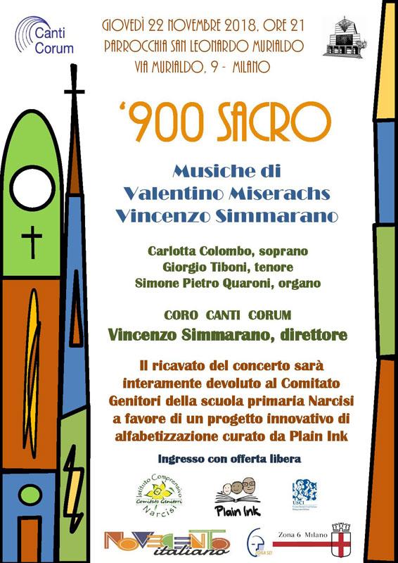 900 Sacro - Concerto per coro - Vincenzo Simmarano
